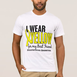 I Wear Yellow For My Best Friend 10 Endometriosis T-Shirt