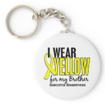 I Wear Yellow For My Brother 10 Sarcoma Keychain