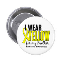 I Wear Yellow For My Brother 10 Sarcoma Pinback Button