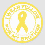 I Wear Yellow For My Brother Sticker
