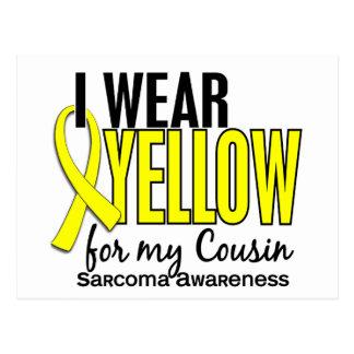 I Wear Yellow For My Cousin 10 Sarcoma Postcard