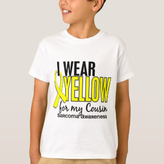 I Wear Yellow For My Cousin 10 Sarcoma T-Shirt