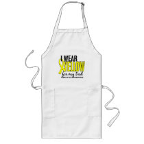 I Wear Yellow For My Dad 10 Sarcoma Long Apron