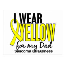 I Wear Yellow For My Dad 10 Sarcoma Postcard