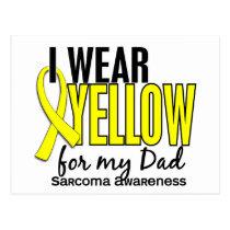 I Wear Yellow For My Dad 10 Sarcoma Postcard