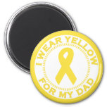 I Wear Yellow For My Dad 2 Inch Round Magnet