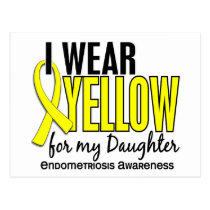 I Wear Yellow For My Daughter 10 Endometriosis Postcard