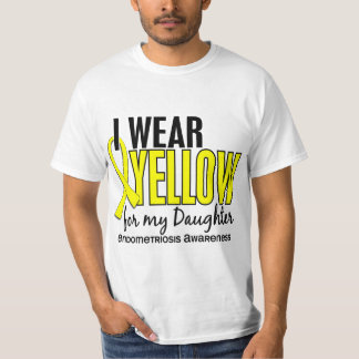 I Wear Yellow For My Daughter 10 Endometriosis Tshirt
