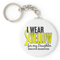 I Wear Yellow For My Daughter 10 Sarcoma Keychain