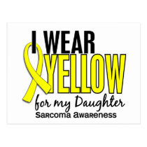 I Wear Yellow For My Daughter 10 Sarcoma Postcard