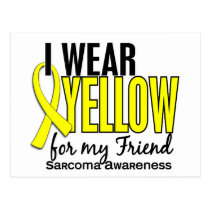 I Wear Yellow For My Friend 10 Sarcoma Postcard