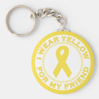 I Wear Yellow For My Friend Keychain