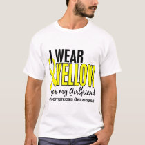 I Wear Yellow For My Girlfriend 10 Endometriosis T-Shirt