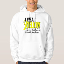 I Wear Yellow For My Girlfriend 10 Sarcoma Hoodie