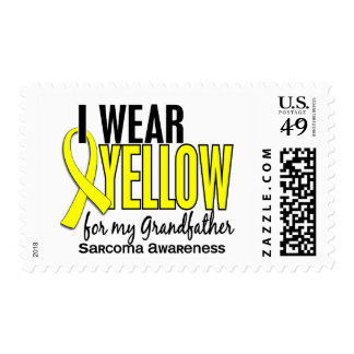 I Wear Yellow For My Grandfather 10 Sarcoma Stamp