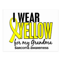 I Wear Yellow For My Grandma 10 Sarcoma Postcard