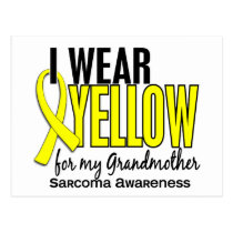 I Wear Yellow For My Grandmother 10 Sarcoma Postcard