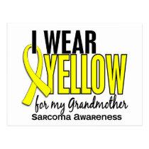I Wear Yellow For My Grandmother 10 Sarcoma Postcard