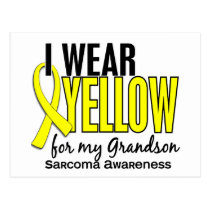 I Wear Yellow For My Grandson 10 Sarcoma Postcard