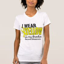 I Wear Yellow For My Grandson 10 Sarcoma T-Shirt