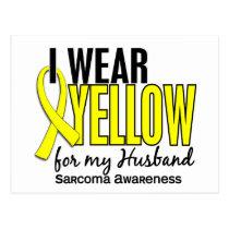 I Wear Yellow For My Husband 10 Sarcoma Postcard