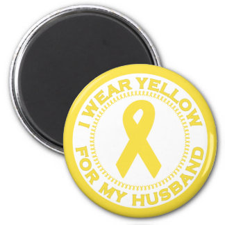I Wear Yellow For My Husband Magnet