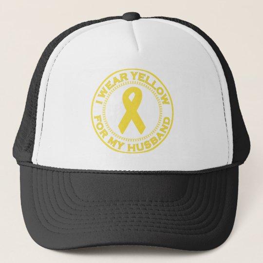 I Wear Yellow For My Husband Trucker Hat
