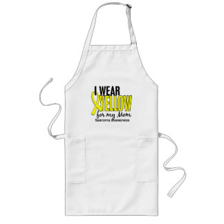 I Wear Yellow For My Mom 10 Sarcoma Long Apron