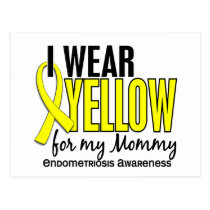 I Wear Yellow For My Mommy10 Endometriosis Postcard