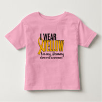 I Wear Yellow For My Mommy 10 Sarcoma Toddler T-shirt