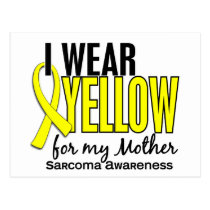 I Wear Yellow For My Mother 10 Sarcoma Postcard