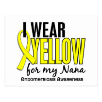 I Wear Yellow For My Nana 10 Endometriosis Postcard