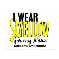 I Wear Yellow For My Nana 10 Sarcoma Postcard