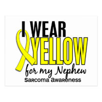 I Wear Yellow For My Nephew 10 Sarcoma Postcard