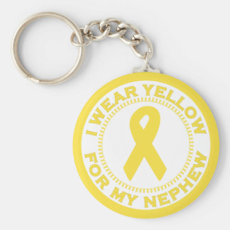 I Wear Yellow For My Nephew Keychain