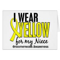 I Wear Yellow For My Niece 10 Endometriosis Card