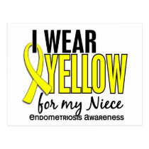 I Wear Yellow For My Niece 10 Endometriosis Postcard