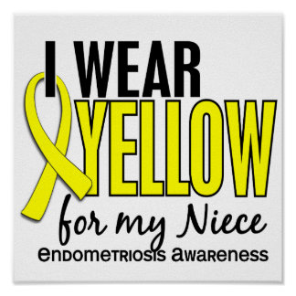 I Wear Yellow For My Niece 10 Endometriosis Poster