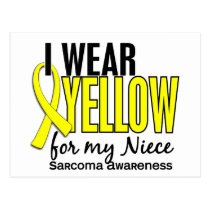 I Wear Yellow For My Niece 10 Sarcoma Postcard