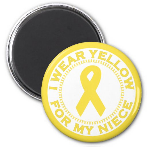 I Wear Yellow For My Niece 2 Inch Round Magnet