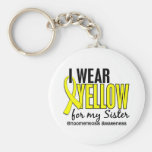 I Wear Yellow For My Sister 10 Endometriosis Keychains