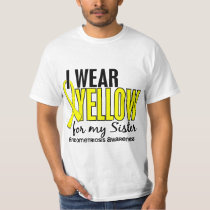 I Wear Yellow For My Sister 10 Endometriosis T-Shirt