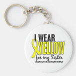 I Wear Yellow For My Sister 10 Sarcoma Basic Round Button Keychain