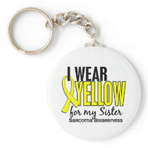 I Wear Yellow For My Sister 10 Sarcoma Keychain