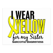 I Wear Yellow For My Sister 10 Sarcoma Postcard