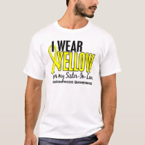 I Wear Yellow For My Sister-In-Law 10 Endometriosi T-Shirt