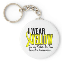 I Wear Yellow For My Sister-In-Law 10 Sarcoma Keychain