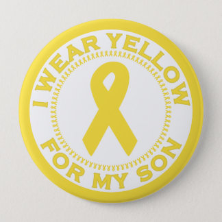 I Wear Yellow For My Son Button