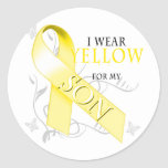 I Wear Yellow for my Son Classic Round Sticker