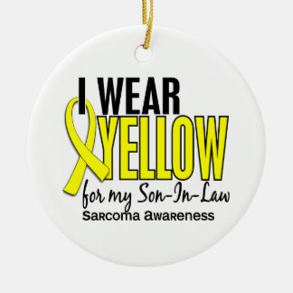 I Wear Yellow For My Son-In-Law 10 Sarcoma Ornament